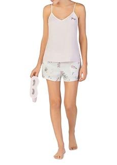 kate spade new york Bridal Cami, Shorts & Eye Mask Set