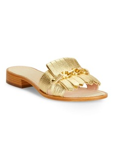 Kate Spade New York Brie Embossed Leather Sandals