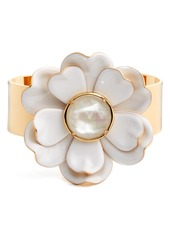 kate spade new york bright blossom flower cuff