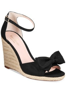 kate spade new york Broome Bow Wedge Sandals Women's Shoes