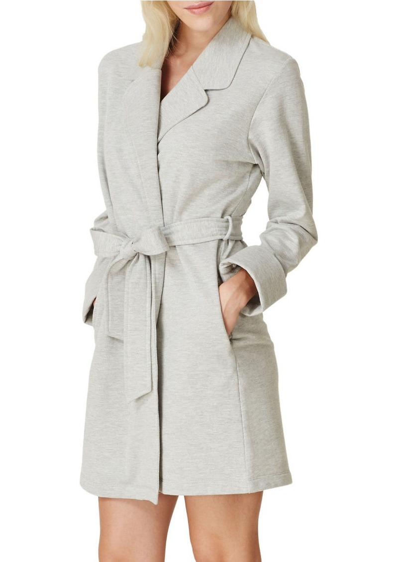 KATE SPADE NEW YORK Brushed French Terry Short Robe