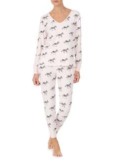 Kate Spade New York Brushed Jersey Long Pajamas