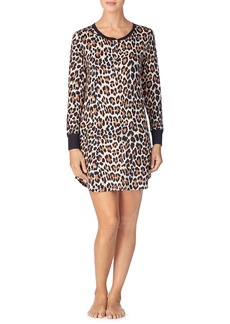 kate spade new york brushed jersey print sleep shirt