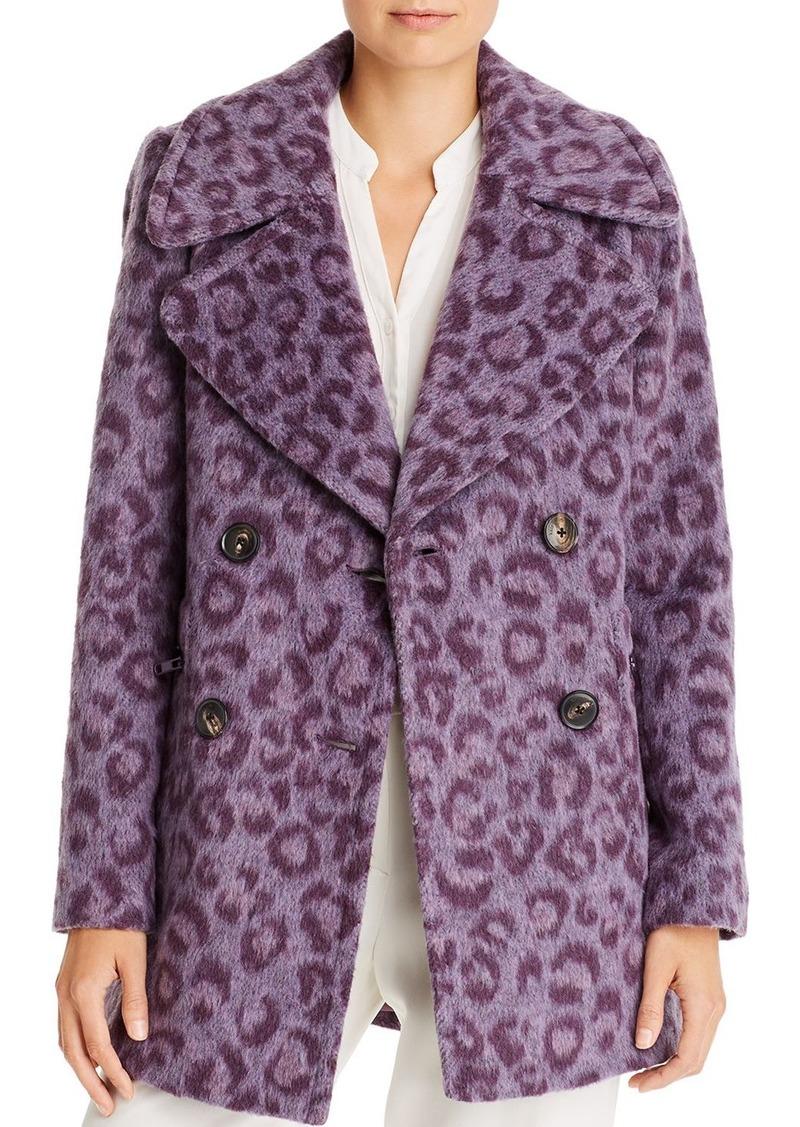 kate spade new york Brushed Leopard-Print Coat
