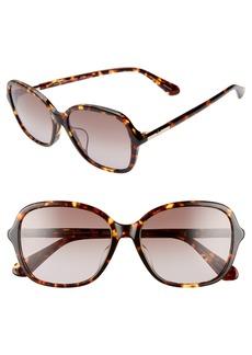 kate spade new york bryleefs 56mm round sunglasses