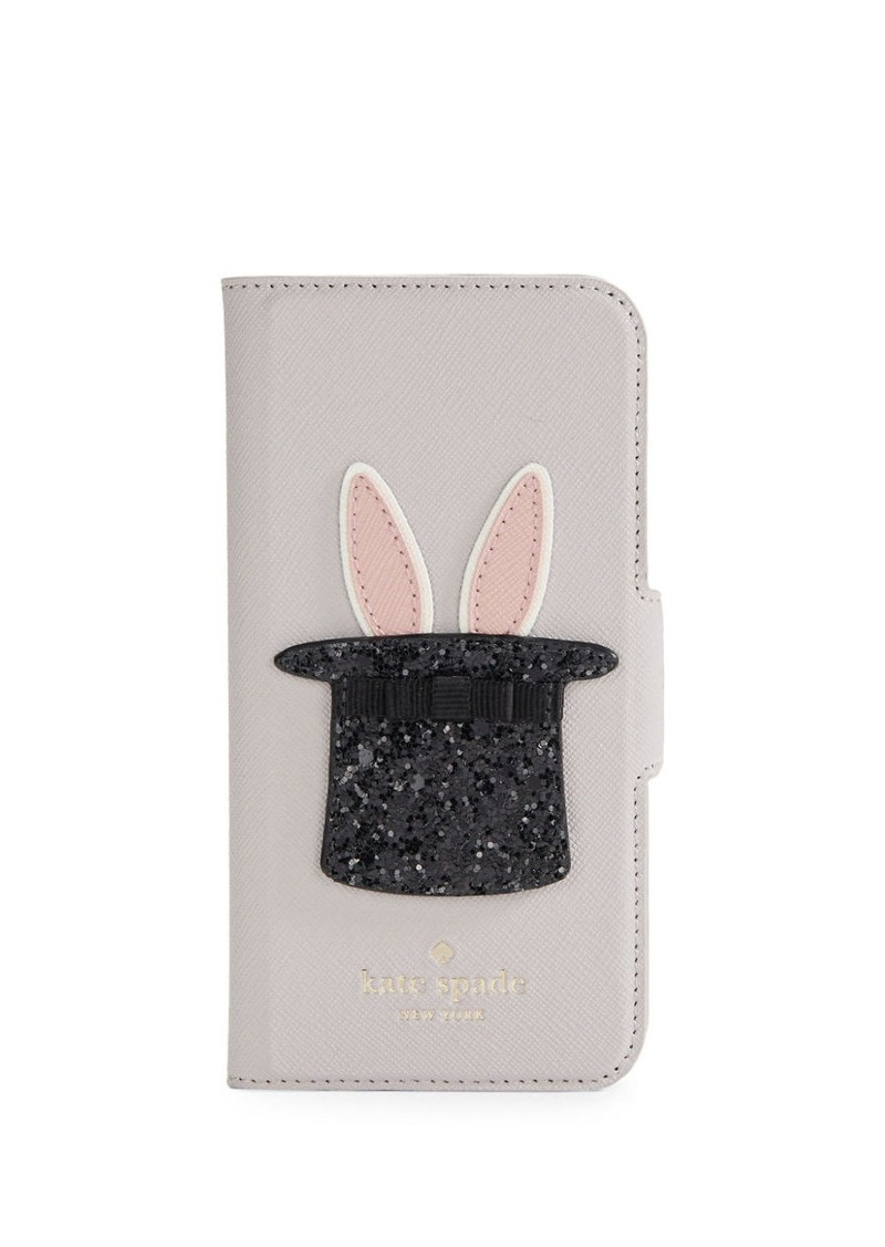 new style 5cf69 32fb1 NEW YORK Bunny Leather iPhone 7 Case