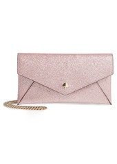 kate spade new york burgess court - glitter leather crossbody clutch