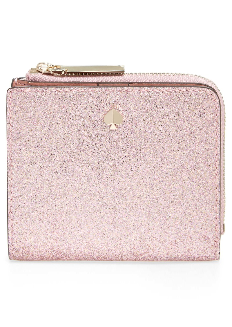 kate spade new york burgess court glitter small bifold wallet