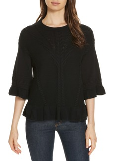 kate spade new york cable sweater