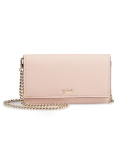 kate spade new york cameron street - franny leather wallet on a chain