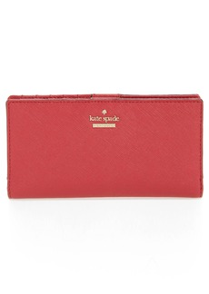 kate spade new york 'cameron street - stacy' textured leather wallet