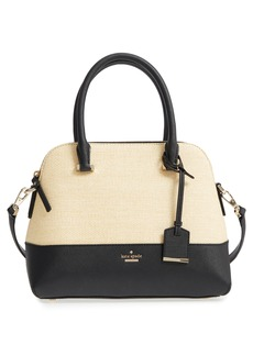 kate spade new york cameron street - straw & leather maise satchel