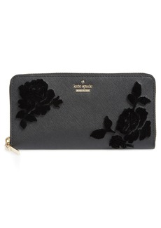 kate spade new york cameron street flock roses lacey wallet