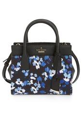 kate spade new york 'cameron street floral - mini candace' cotton poplin satchel