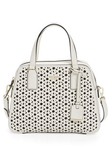 kate spade new york cameron street perforated little babe leather satchel