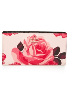 kate spade new york cameron street roses - stacy wallet