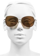 kate spade new york 'candida' 57mm polarized aviator sunglasses