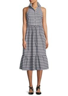 Kate Spade candy stripe sleeveless shirt dress