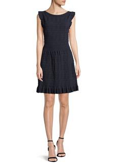 Kate Spade cap-sleeve textured sweater dress