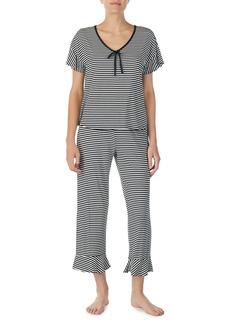 kate spade new york capri short sleeve pajama set