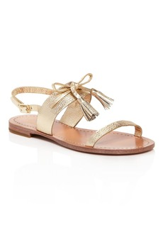 kate spade new york Carlita Metallic Leather Slingback Sandals