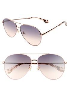 kate spade new york carolane 61mm special fit polarized aviator sunglasses