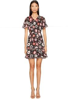 Kate Spade New York Casa Flora Flutter Sleeve Dress