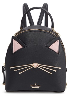 kate spade new york cats meow - binx leather backpack