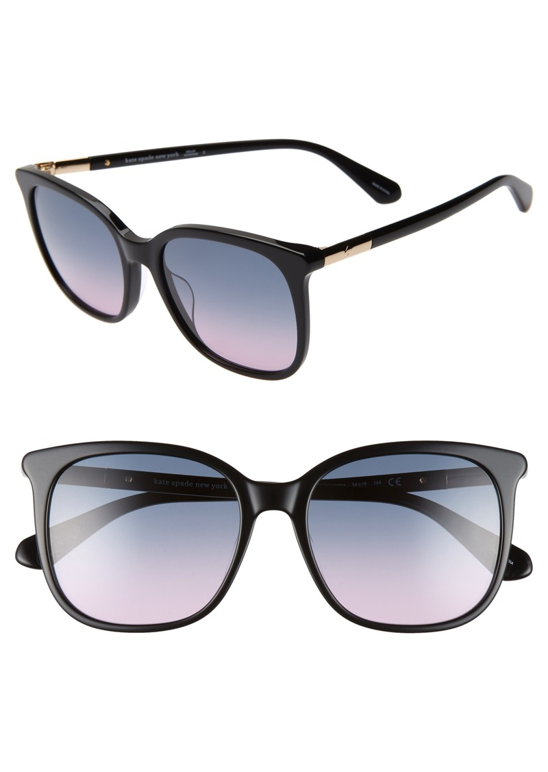 kate spade new york caylin 54mm gradient square sunglasses