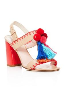 kate spade new york Central Tasseled Block Heel Sandals