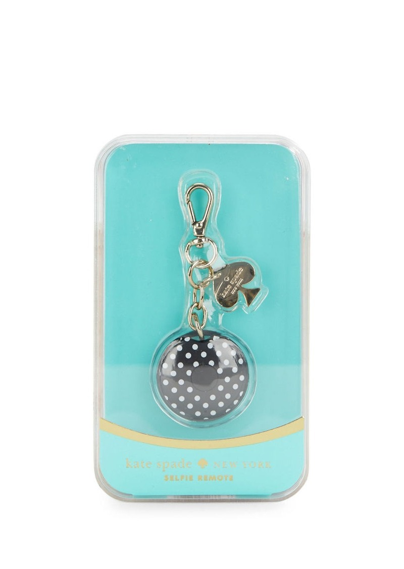 KATE SPADE NEW YORK Chain-Link Dotted Keychain Selfie Remote