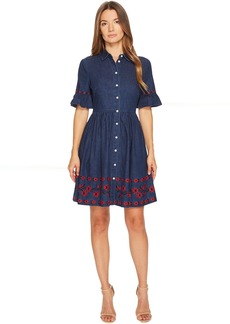Kate Spade New York Chambray Embroidered Dress
