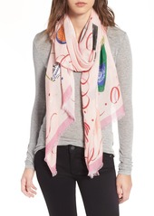 kate spade new york champagne oblong scarf