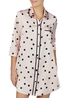 kate spade new york Charm Polka-Dot Sleep Shirt