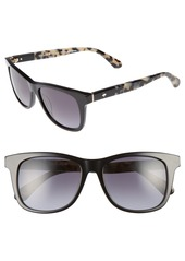 kate spade new york charmine 53mm gradient lens Sunglasses