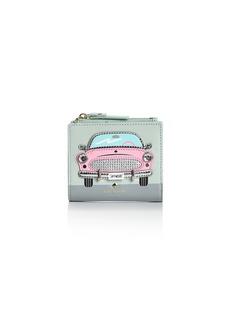 kate spade new york Checking In Pink Car Adalyn Leather Wallet