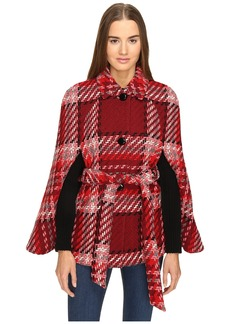 Kate Spade New York Chunky Plaid Cape