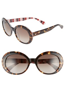 kate spade new york cindra 54mm gradient round sunglasses