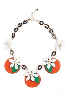 kate spade new york citrus crush statement necklace