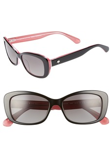 kate spade new york claretta 53mm polarized sunglasses