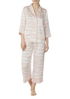 kate spade new york Classic Zebra-Printed Pajama Set