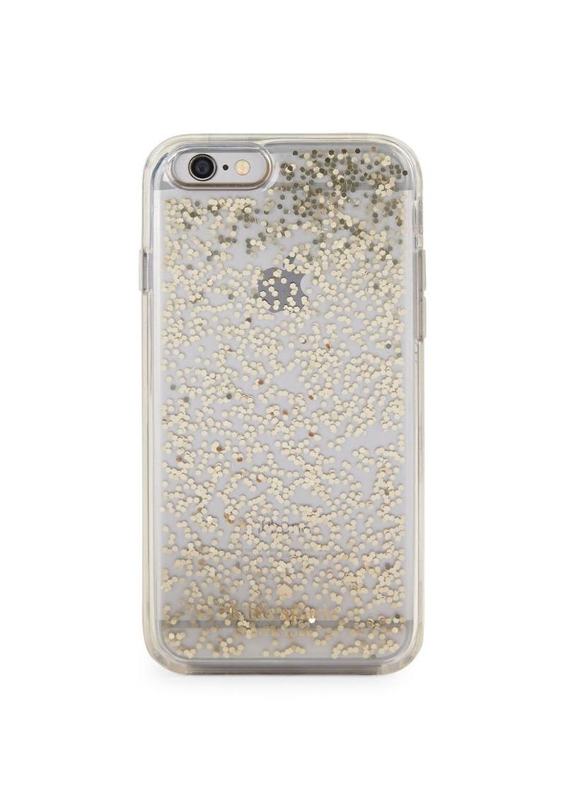 KATE SPADE NEW YORK Clear Glitter iPhone 6 Case