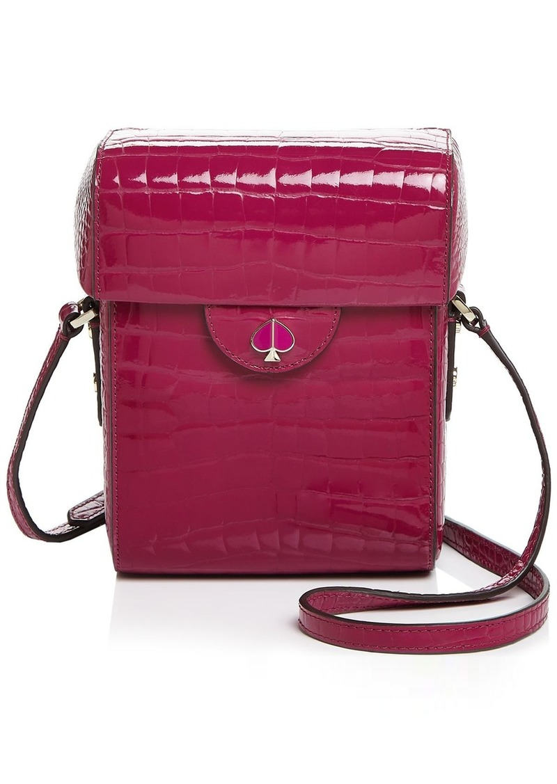 kate spade new york Cleo Medium Croc-Embossed Camera Crossbody
