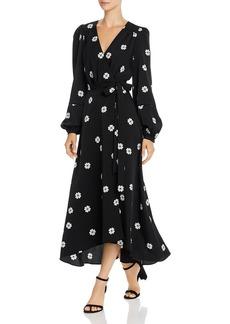 kate spade new york Clover Toss Spade-Print Wrap Dress