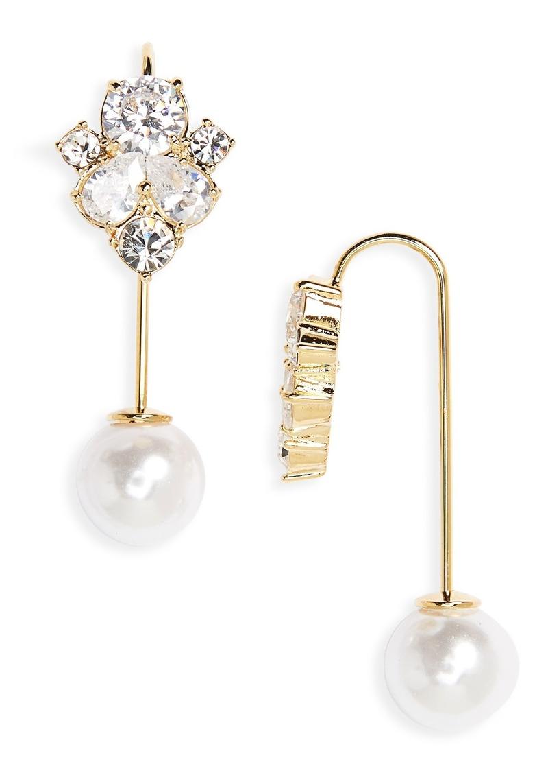 Kate Spade New York Cer Hanger Crystal Drop Earrings