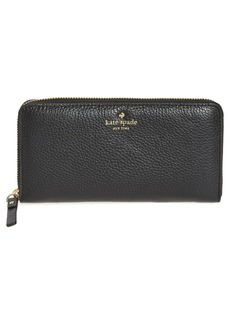 kate spade new york 'cobble hill - lacey' zip around wallet