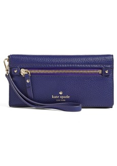 kate spade new york 'cobble hill - rae' leather wristlet wallet