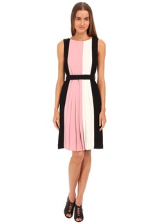 Kate Spade New York Color Block Pleated Dress
