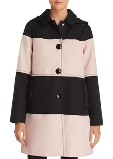 kate spade new york Color-Block Trench Coat