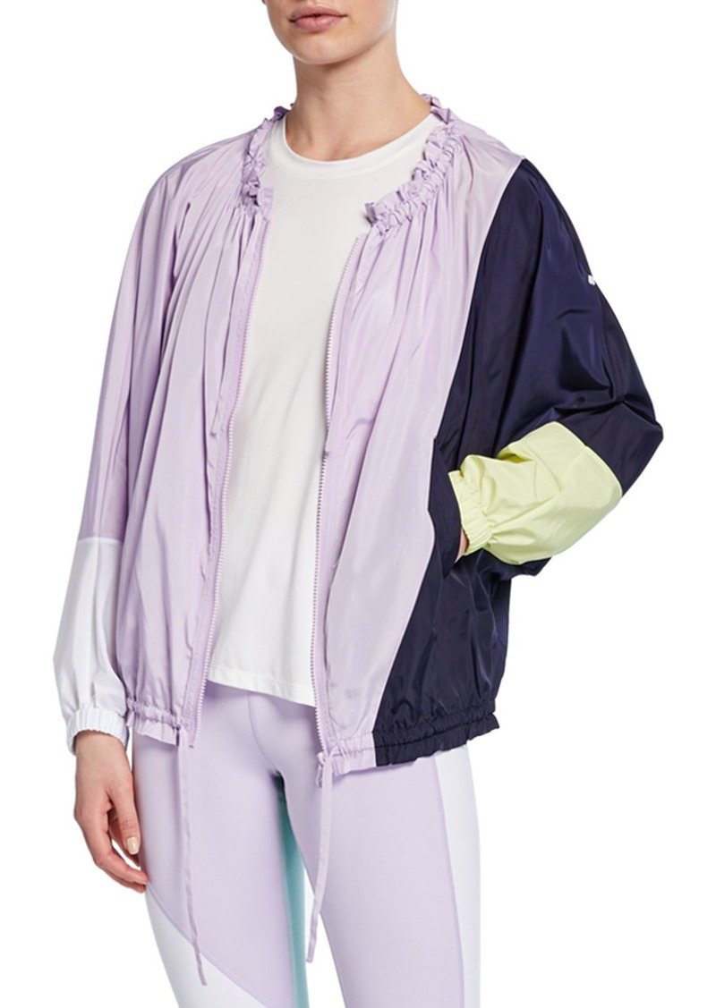 kate spade new york color splice zip-front wind jacket